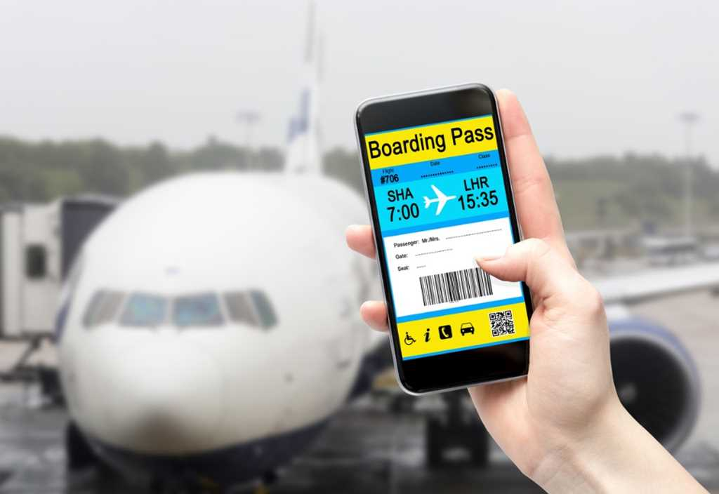 An electronic Boarding Pass on a smartphone screen demonstrating User Acceptance Testing