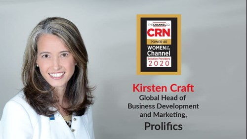 "Kirsten Craft has been named to the prestigious ""2020 Women of the Channel"" list"